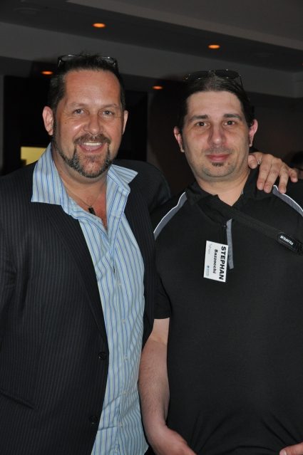 Pegasus Publications General Manager Ian Leatt with The Hub contributor Stephan Bazzoccchi