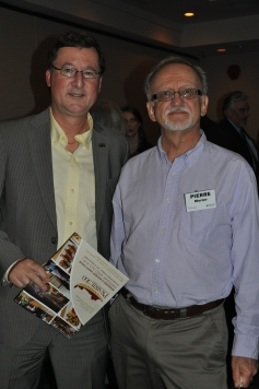 Warren Thompson of Stantec and Pierre Morier of Morier Services