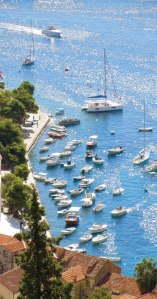 Harbour in Hvar, Croatia.