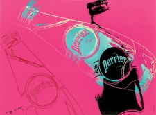 "Andy Warhol ""Perrier, 1983."" Photo GHP Media. © The Andy Warhol Foundation for the Visual Arts, Inc. / SODRAC (2014)."