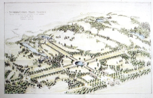 Original plans for the International Peace Garden.