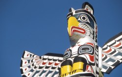 View beautiful totem poles and learn about First Nations heritage. (Photo courtesy of Tourism BC.)