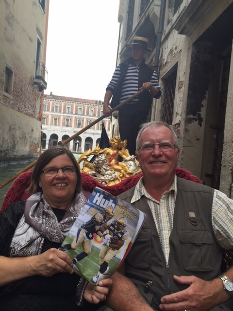 Rob and Connie Holland with The Hub in Venice! Ciao bella!