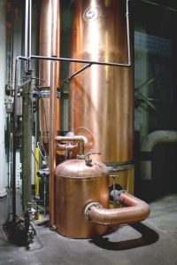 The coffey still was transported to Gimli from the now closed Waterloo distillery and is the only one in North America.