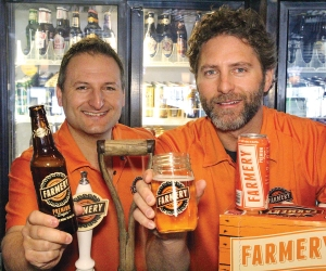 Chris (left) and Lawrence Warwaruk wanted to create a beer that would bring them back to their farming roots.