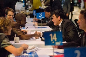 Centrallia is a fast-paced business matchmaking program.