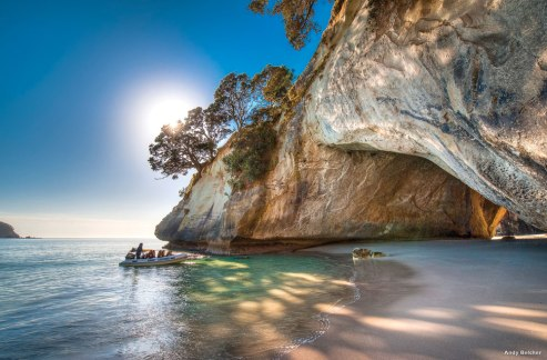 Cathedral Cove on the Coromandel Peninsula was used in the Chronicles of Narnia.