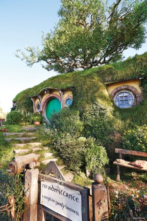 Lord of the Rings and The Hobbit fans can visit Hobbiton or The Shire where they filmed the movies near Matamata.