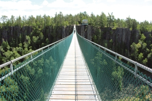 Eagle Canyon is home to Canada's longest suspension bridge.