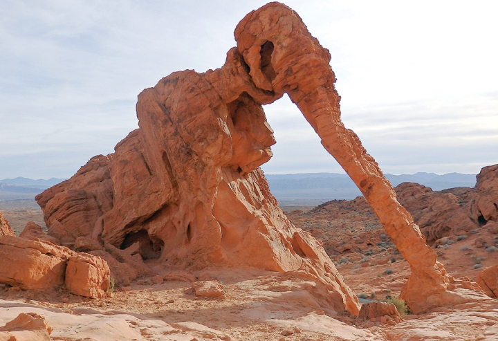 Elephant Rock looks like a prehistoric mammoth.