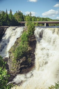 Just west of Thunder Bay are the majestic Kakabeka Falls.