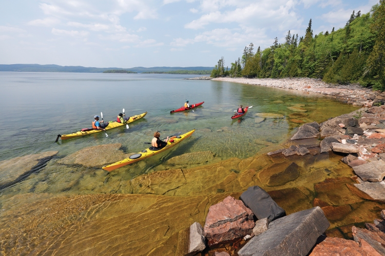 Kayaking the rugged Canadian Shield.