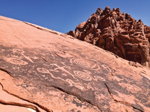 Petroglyphs, signs of an ancient civilization, can be found.