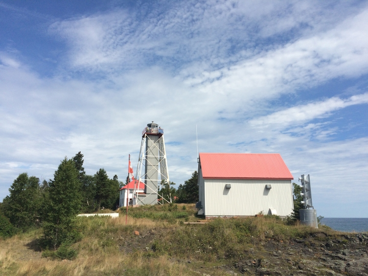 Porphyry lighthouse has been recently restored as part of the Porphyry Island Provincial Park Nature Reserve.