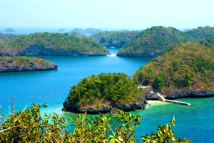 The rugged beauty of the Hundred Island National Park, located north of Manila, Philippines.