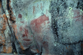 Ancient pictographs along Bloodvein River date back to between 900 and 1200 A.D.