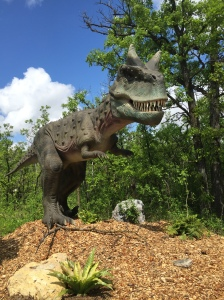 A carnotaurus from the Dinosaurs Alive! exhibit.