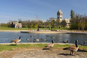 The Assiniboine Park Pavilion is the focal point of the park.