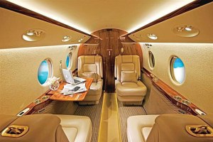 The luxurious interior of the G150.