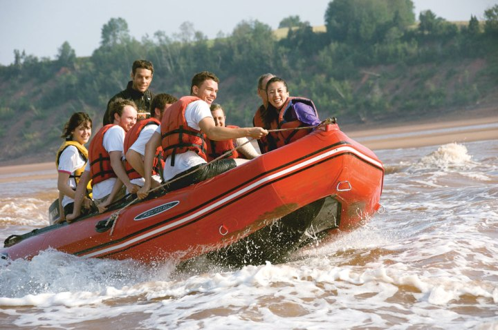 Nova Scotia's Tidal Bore rafting tours are unlike any other rafting experience on the planet.
