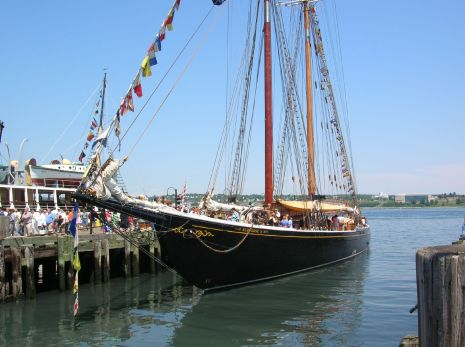 Bluenose II, a replica of the world-famous Bluenose schooner.