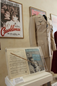 Casablanca memorabilia on display at Warner Brothers Studios.