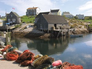 Peggy's Cove Harbour is quaint and picturesque.