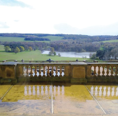 View from the Harewood House drawing room window.