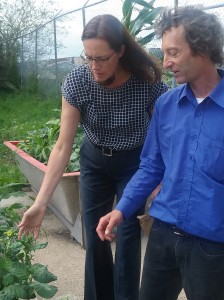 Esther Pallister with Brian Etkin, the horticulture teacher at Neeginan.