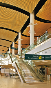 The abundance of windows ensure the terminal is light and airy during the day.