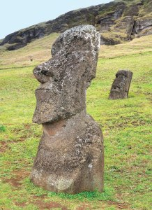 The monumental maoi can be up to 10 metres high and weigh up to 82 tons.