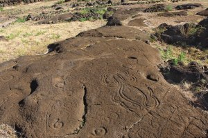 Petroglyphs can be found all over the island.