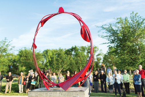 Ring piece sculpture by Douglas Benson.