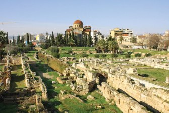 Kerameikos is the largest cemetery of the ancient city.