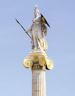 Statue of Minerva, ancient goddess of wisdom.