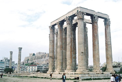 The remains of the Temple of Zeus, a great Olympian god.