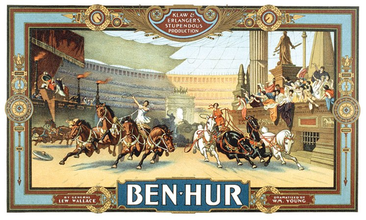 """""""Ben-Hur: Klaw & Erlanger's Stupendous Production"""" was undoubtedly the most extravagant theatrical creation to visit the early Walker Theatre. At one point it featured three horse-drawn chariots at full gallop live on stage."""