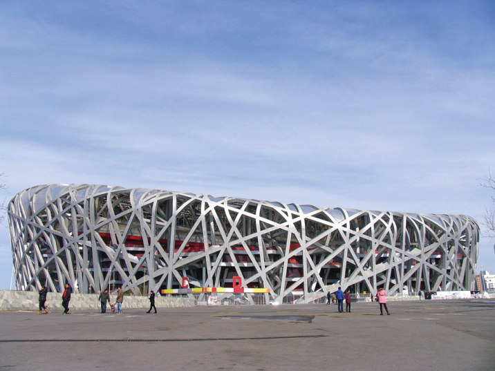 The Beijing National Stadium, a.k.a. the bird nest, built for the 2008 Beijing Summer Olympics.