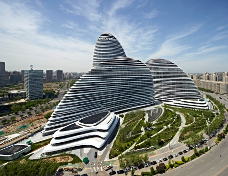 Beijing is also known for its many architectural wonders - like the Galaxy Soho.